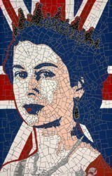The Queen by David Arnott -  sized 37x23 inches. Available from Whitewall Galleries